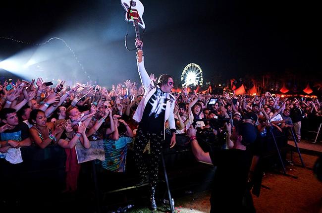 Win Butler of Arcade Fire at Coachella 2014
