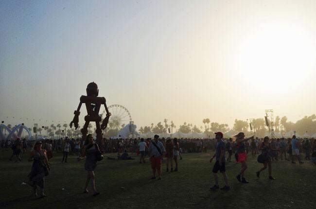 Art and horizon at the 2014 Coachella Music and Arts Festival