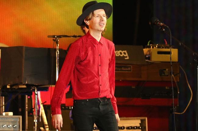 Beck performs at Coachella 2014
