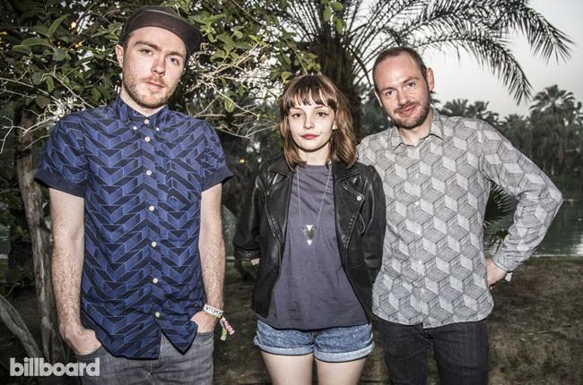 Chvrches backstage at Coachella 2014