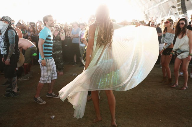 Atmosphere on day 3 of Coachella 2014