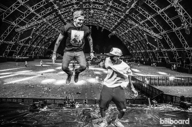 Dillon Francis and Taco Odd Future backstage at Coachella 2014