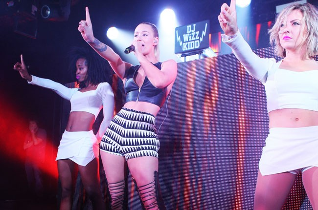 Iggy Azalea performs at the Alexander Wang x H&M Coachella Party