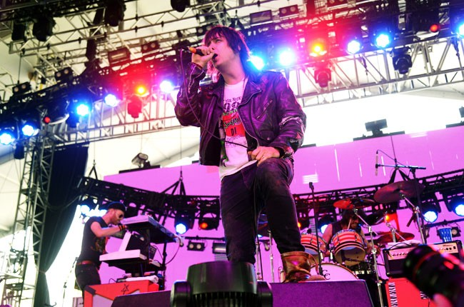 Julian Casablancas performs at Coachella 2014
