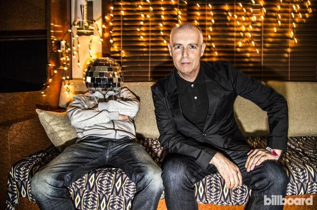 Pet Shop Boys backstage at Coachella 2014