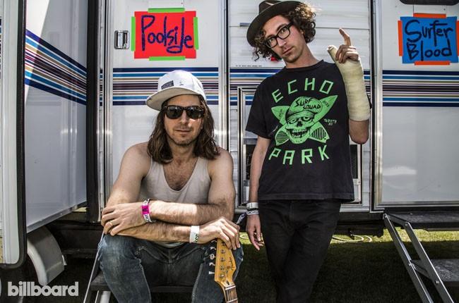 Poolside backstage at Coachella 2014