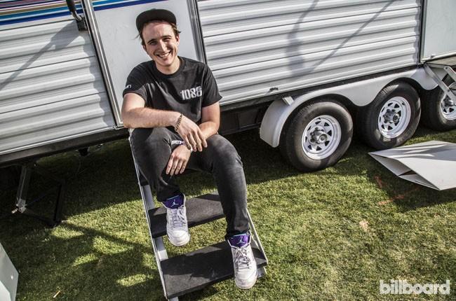 RL Grime backstage at Coachella 2014