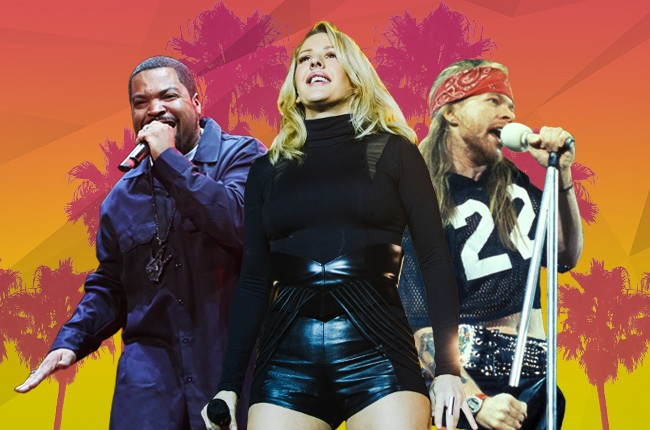 Ice Cube, Ellie Goulding & Guns'n'Roses to perform at Coachella 2016.