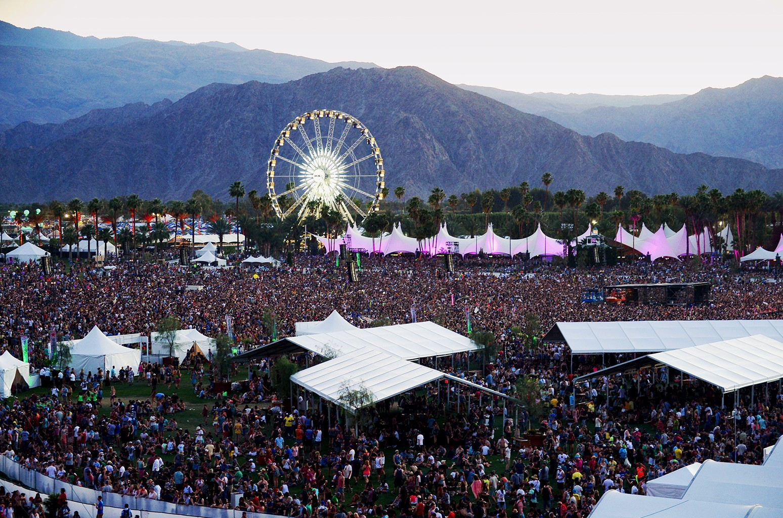 A general view of the atmosphere during day 1 of the 2014 Coachella Valley Music & Arts Festival at the Empire Polo Club on April 11, 2014 in Indio, Calif.