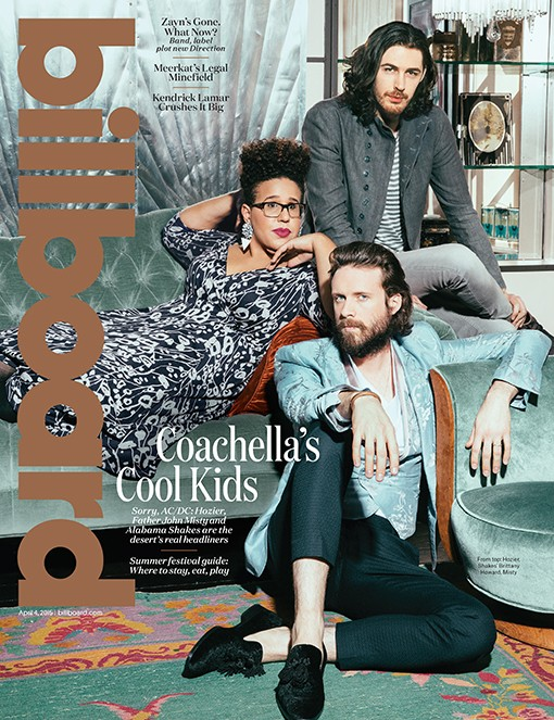 Father John Misty, Brittany Howard and Hozier photographed on March 11, 2015 at 632 on Hudson in New York City.