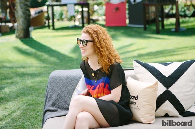 Jess Glynne at Billboard Studio at Coachella 2015