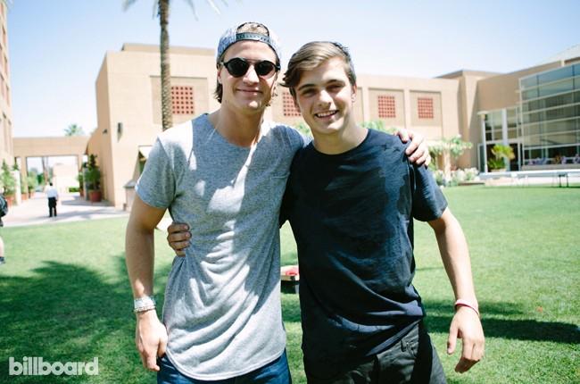 Kygo and Martin Garrix at Billboard Studio at Coachella 2015
