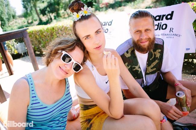MØ at Billboard Studio at Coachella 2015
