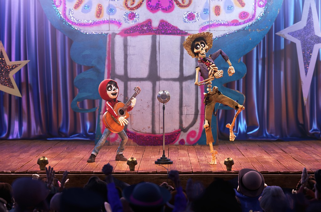 A scene from the film Coco.