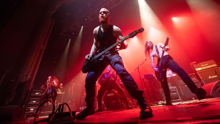 <p>Code Orange perform on stage at O2 Academy on April 19, 2018 in Glasgow, Scotland.&nbsp&#x3B;&nbsp&#x3B;</p>