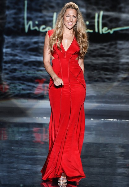 colbie-caillat-red-dress-event-nyfw-fall2014-600