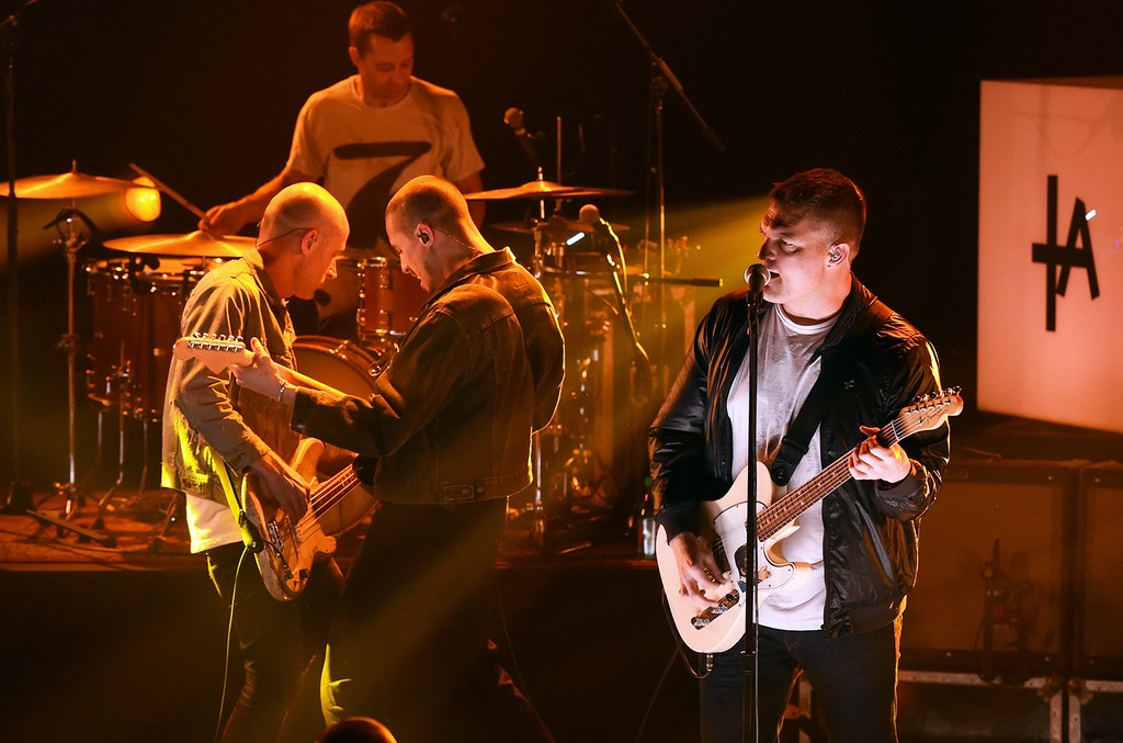 Cold War Kids perform onstage with iHeartRadio LIVE at iHeartRadio Theater on April 7, 2017 in Burbank, Calif