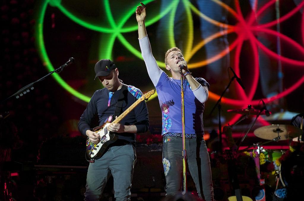 Coldplay perform at MetLife Stadium