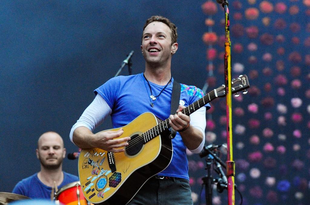 Coldplay perform at Wembley Stadium
