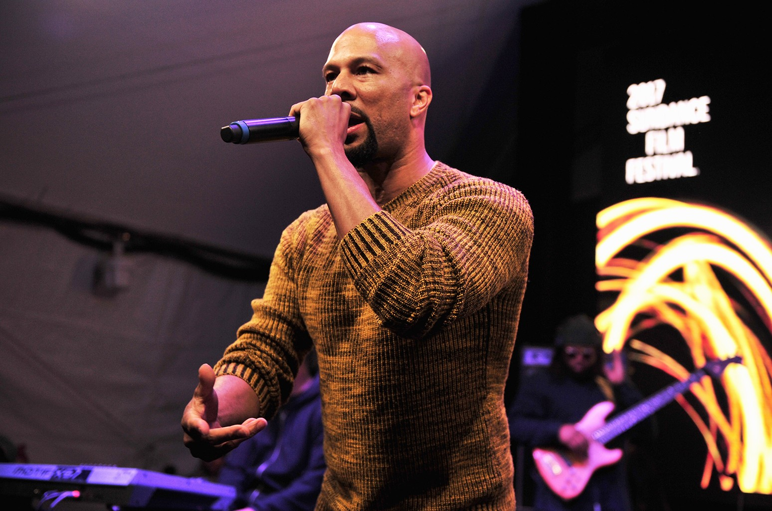 Common performs on Jan. 21, 2017.