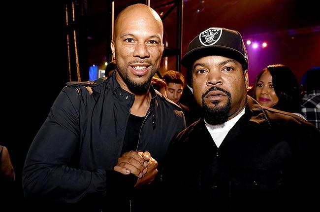 Common Ice Cube straight outta compton premiere 2015