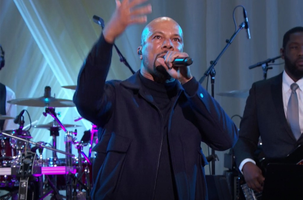 Common performs at the White House