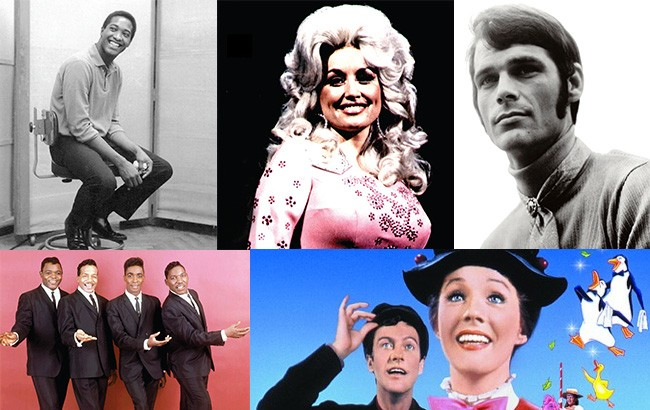 "Sam Cooke, Dolly Parton, B.J. Thomas, The Drifters, ""Mary Poppins"""