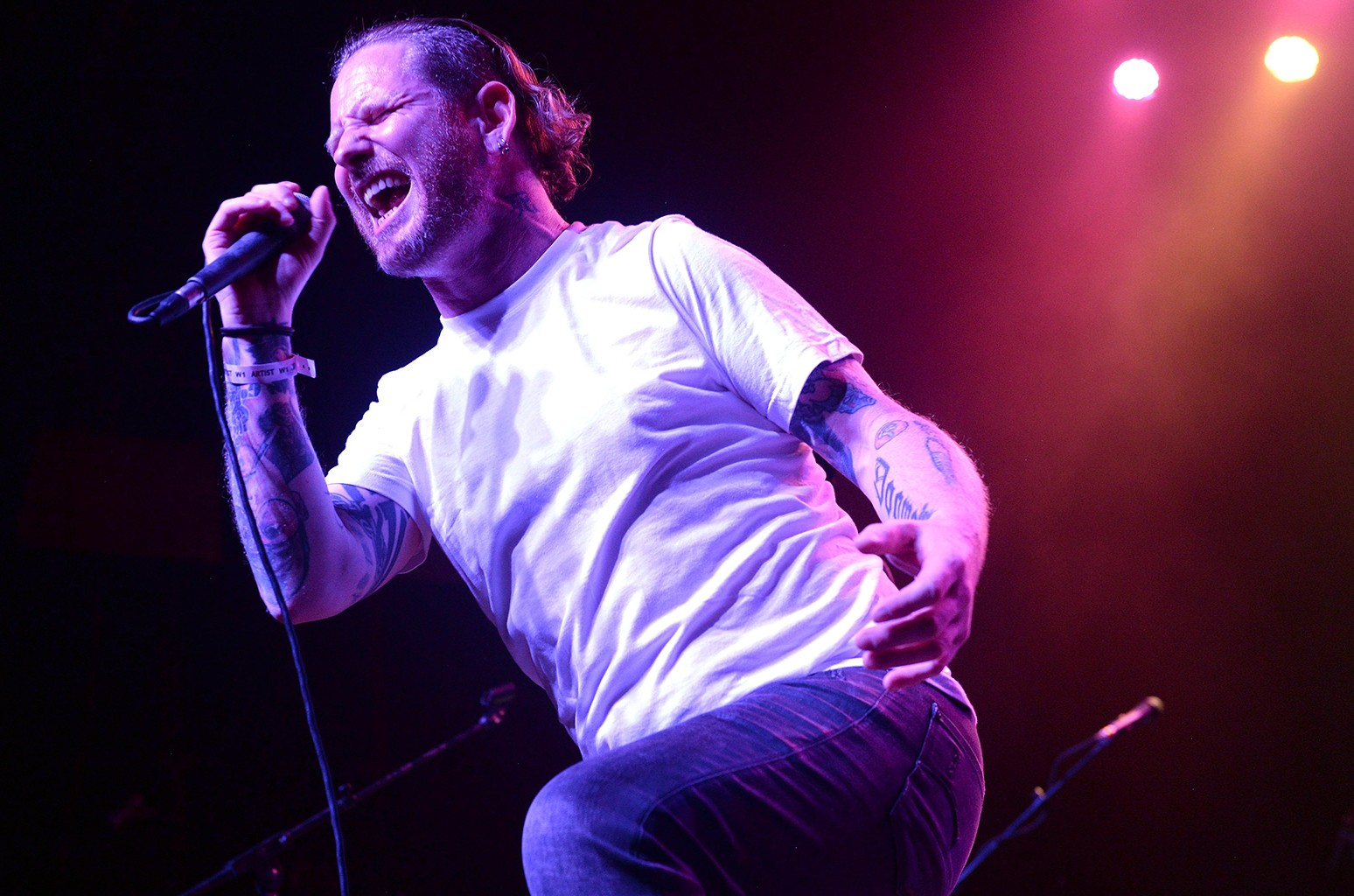 Corey Taylor of Stone Sour performs at The Fonda Theatre on May 14, 2017 in Los Angeles.