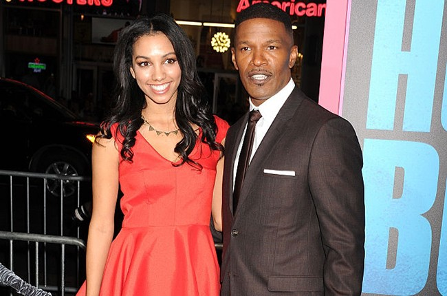 """Corinne Foxx and Jamie Foxx at the """"Horrible Bosses 2"""" premiere on Nov. 20, 2014"""