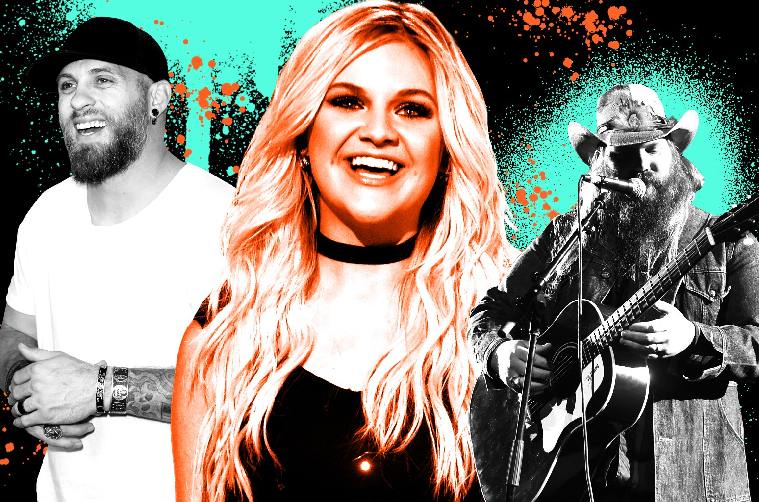 From left: Brantley Gilbert, Kelsea Ballerini & Chris Stapleton