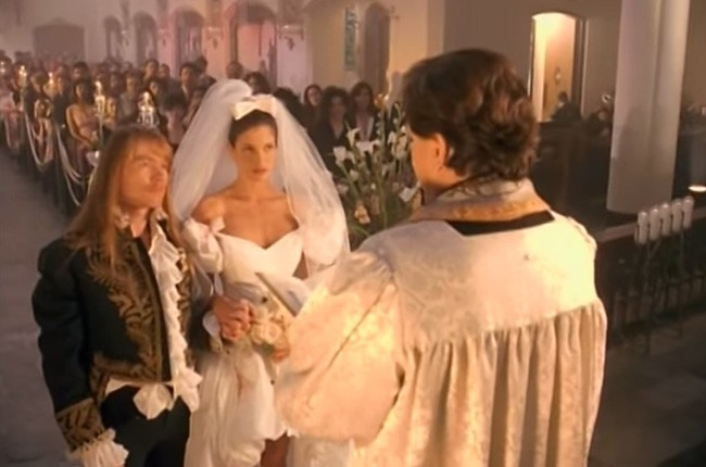 "Axl Rose and Stephanie Seymour, ""November Rain"""