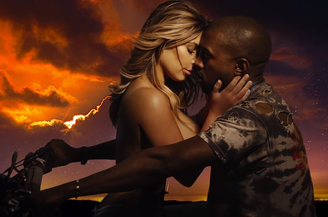 "Kim Kardashian and Kanye West, ""Bound 2"""
