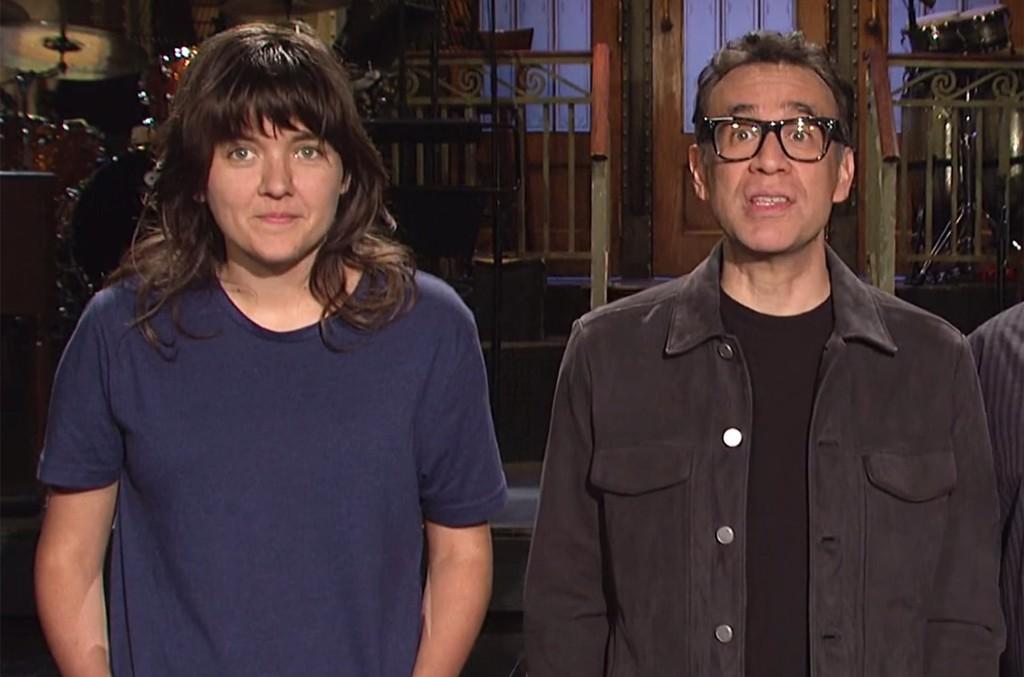 Courtney Barnett and Fred Armisen in Saturday Night Live promo