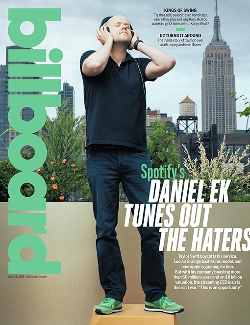 Spotify's CEO and Co-Founder Daniel Ek photographed on May 21, 2015 at Spotify's New York City office.