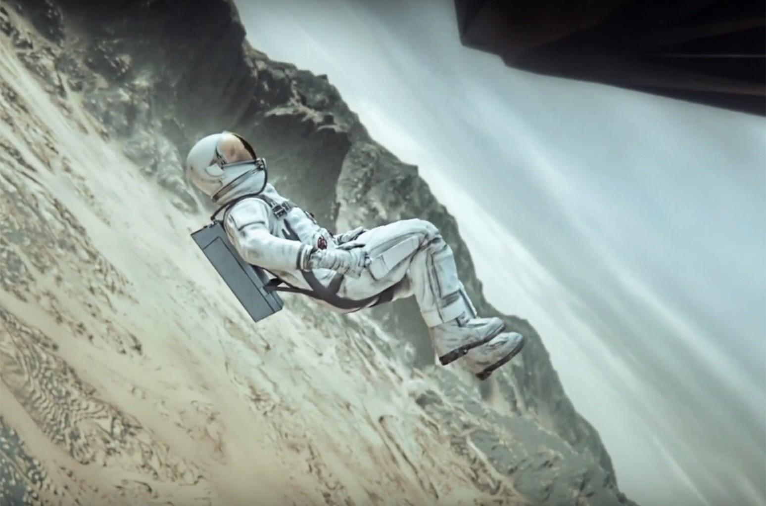 "Crash Land in the video for ""Crash Land."""
