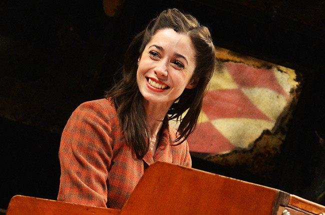 Cristin Milioti performs in Once the musical on Broadway