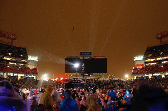 A view of LP Field at CMA Music Festival