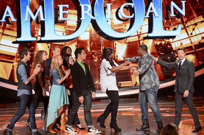 """Curtis Finch, Jr. gets consoled on """"American Idol"""""""