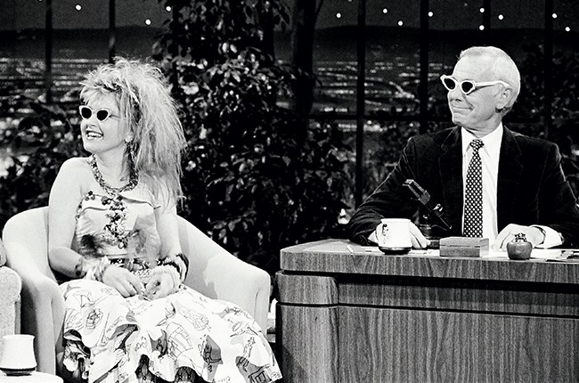 cyndi lauper on the tonight show in 1984