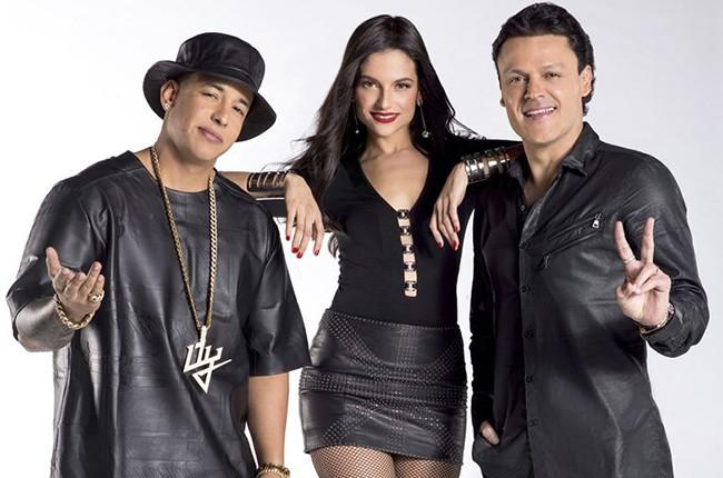 Daddy Yankee, Natalia Jimenez and Pedro Fernandez La Voz Kids
