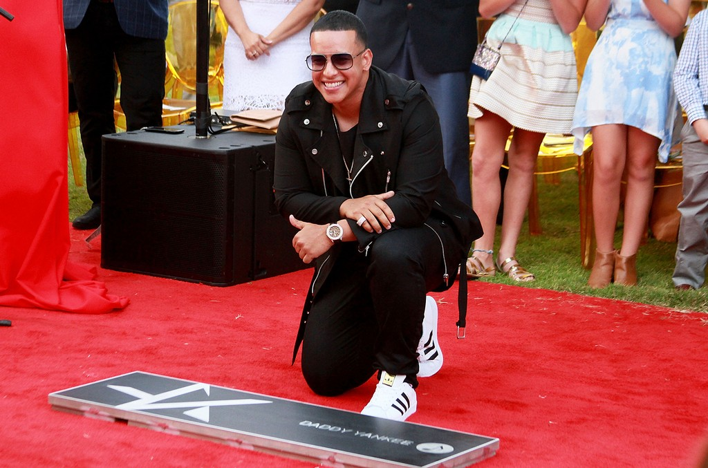 Daddy Yankee is honored with a star in Paseo de la Fama on March 16, 2017 in San Juan, Puerto Rico.