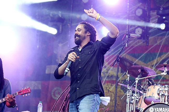 Damian Marley performs at Governors Ball 2014