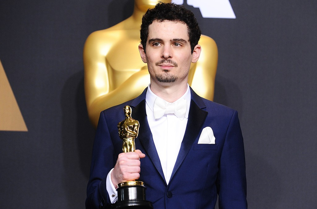 Damien Chazelle poses in the press room at the 89th annual Academy Awards at Hollywood & Highland Center on Feb. 26, 2017 in Hollywood, Calif.