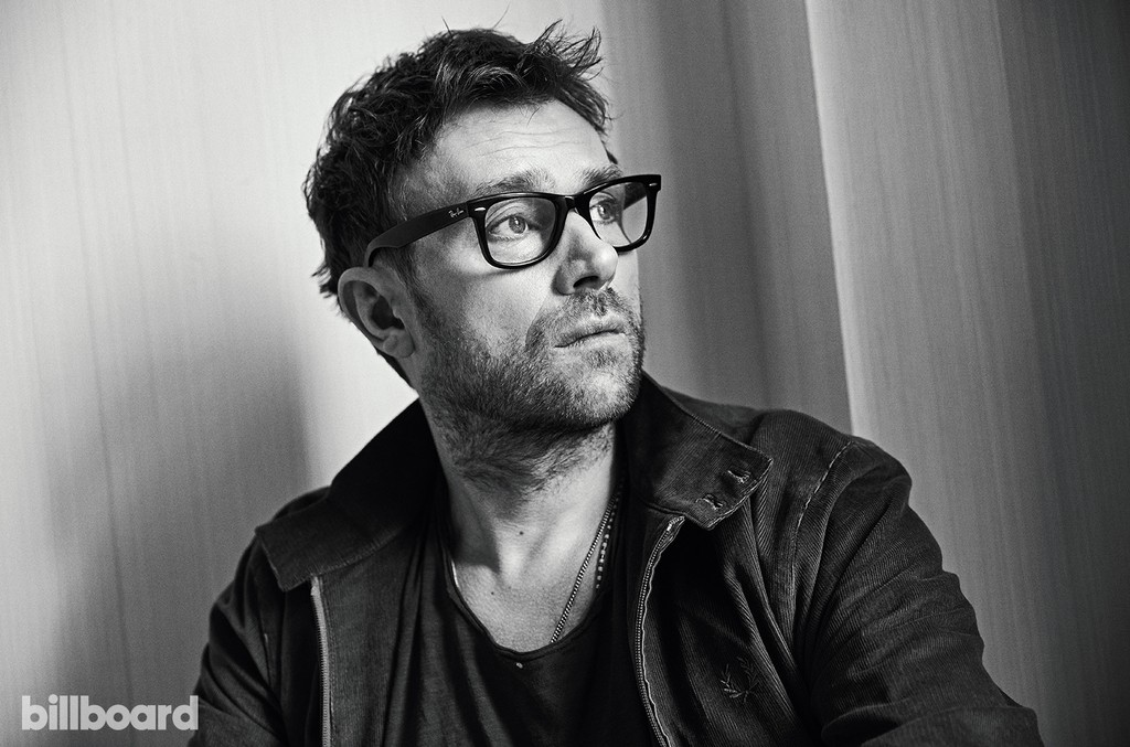 Damon Albarn photographed on March 27, 2017 at The Greenwich Hotel in New York.