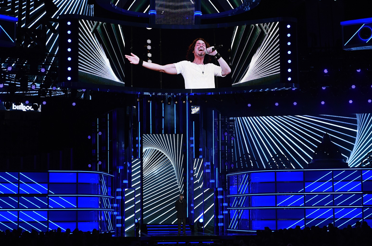 Dan Reynolds of Imagine Dragons speaks onstage in tribute to late singer Chris Cornell during the 2017 Billboard Music Awards at T-Mobile Arena on May 21, 2017 in Las Vegas.