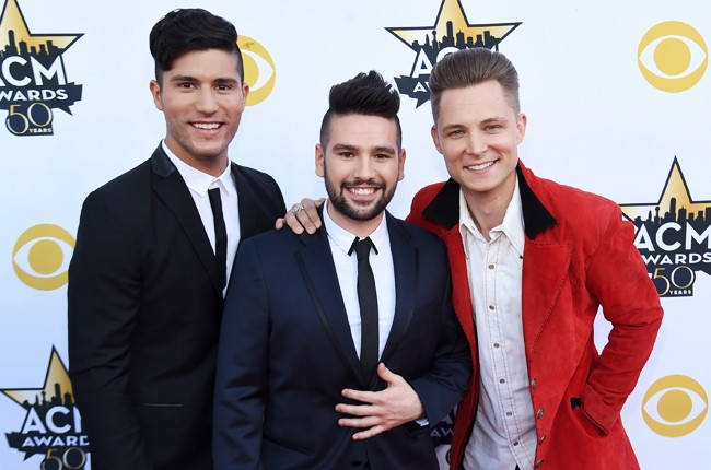 Dan Smyers and Shay Mooney of Dan + Shay and Frankie Ballard attend the 50th Academy Of Country Music Awards