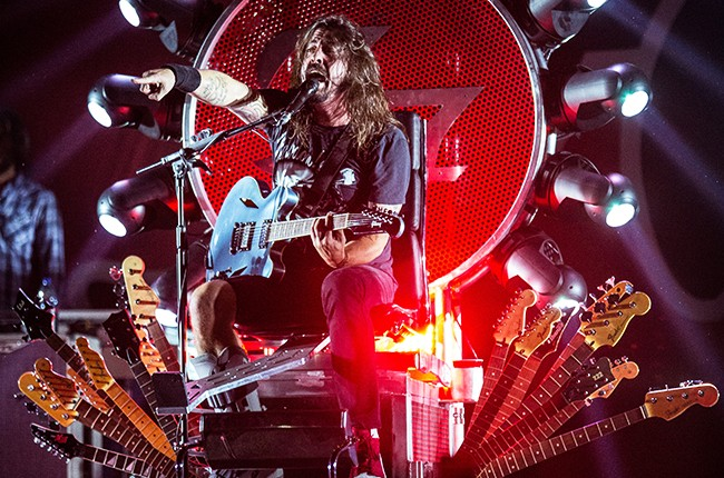 ave Grohl of Foo Fighters performs live at Nuovo Teatro Carisport in Cesena