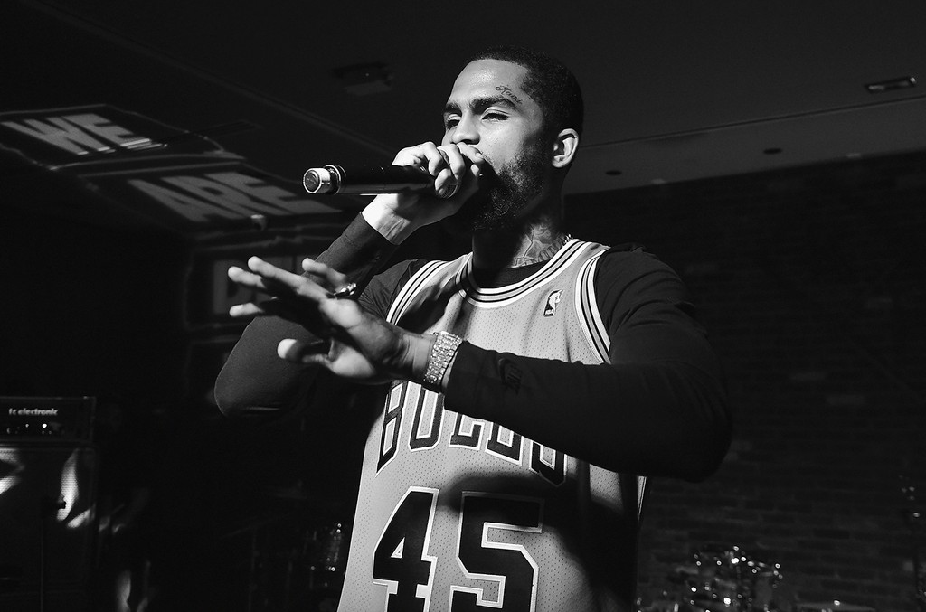Dave East performs at the 2017 Def Jam Upfronts presented by Honda Stage, Pepsi, Courvoisier, and True Religion at Kola House NYC on May 9, 2017 in New York City.