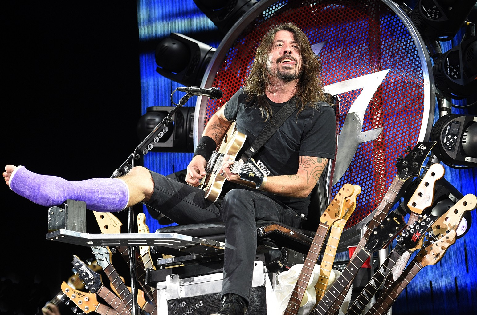 Dave Grohl performs at RFK Stadium