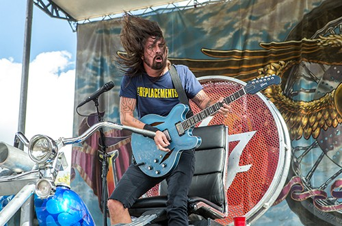 Dave Grohl of the Foo Fighter performs during the 32nd Love Ride